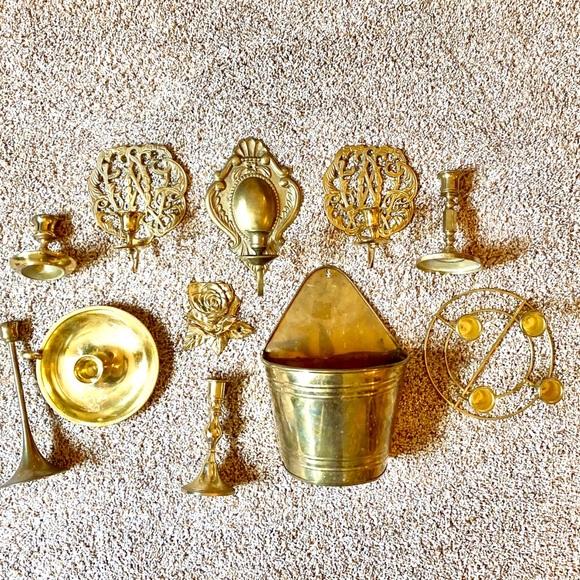 Vintage Other - Vintage antique brass boho candlesticks